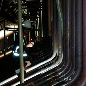 Inspeção de tubulação industrial
